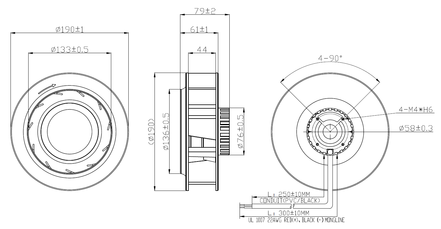 DCC190 Centrifugal FAN DRAWING